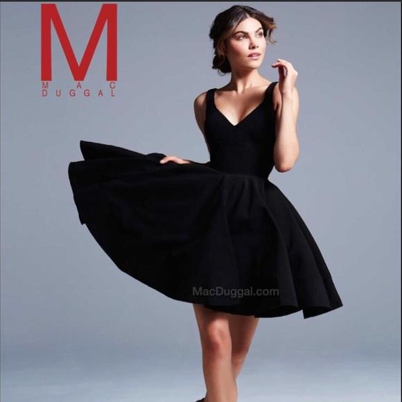 f8cb97bfc58e Ieena for Mac Duggal Dresses | Double Vneck Fit Flare | Poshmark